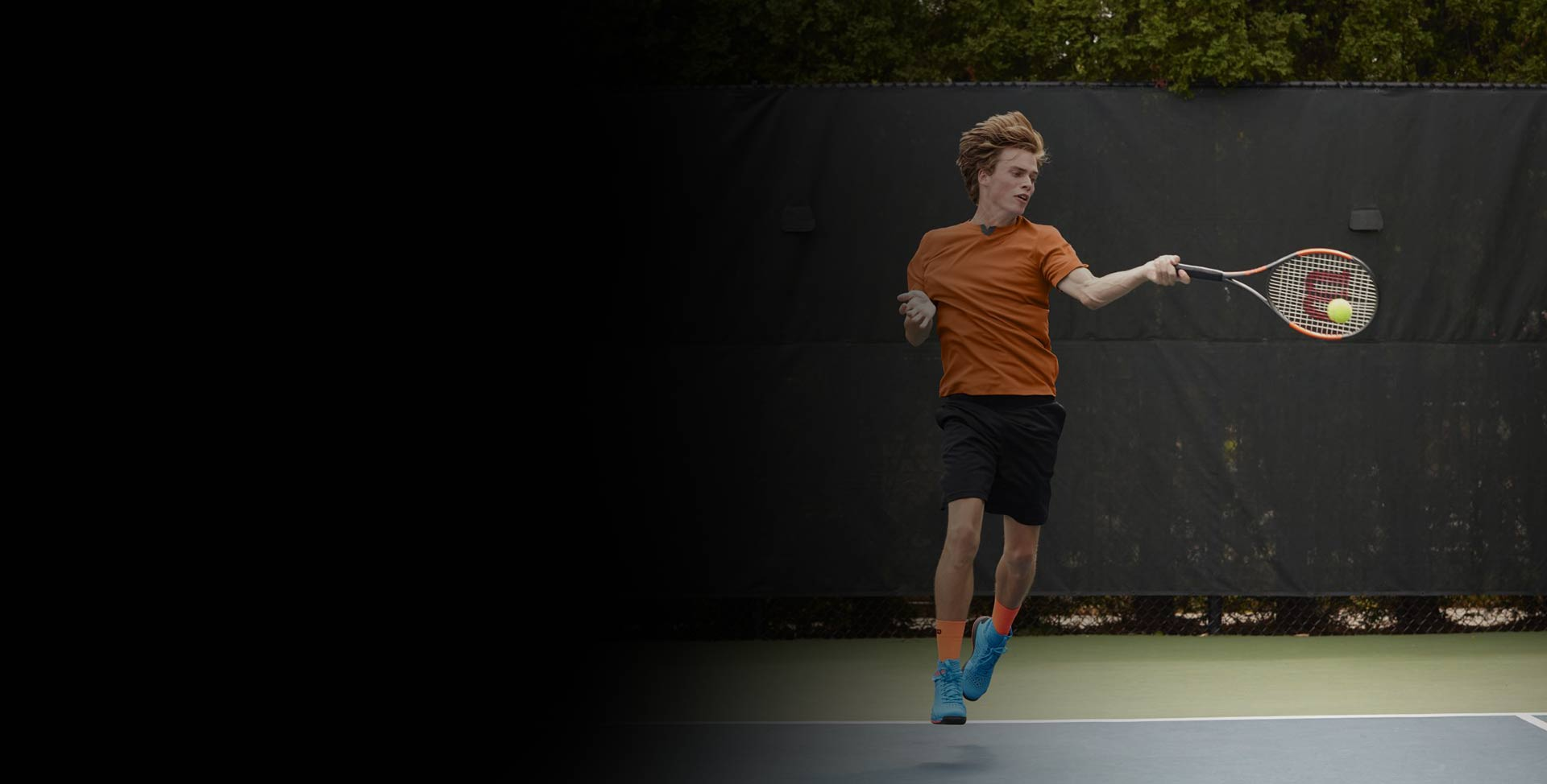 Sydney Tennis Player Hitting Ball